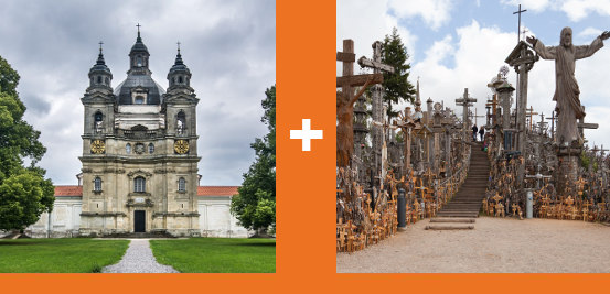 Pazaislis Monastery & Hill of Crosses Tour